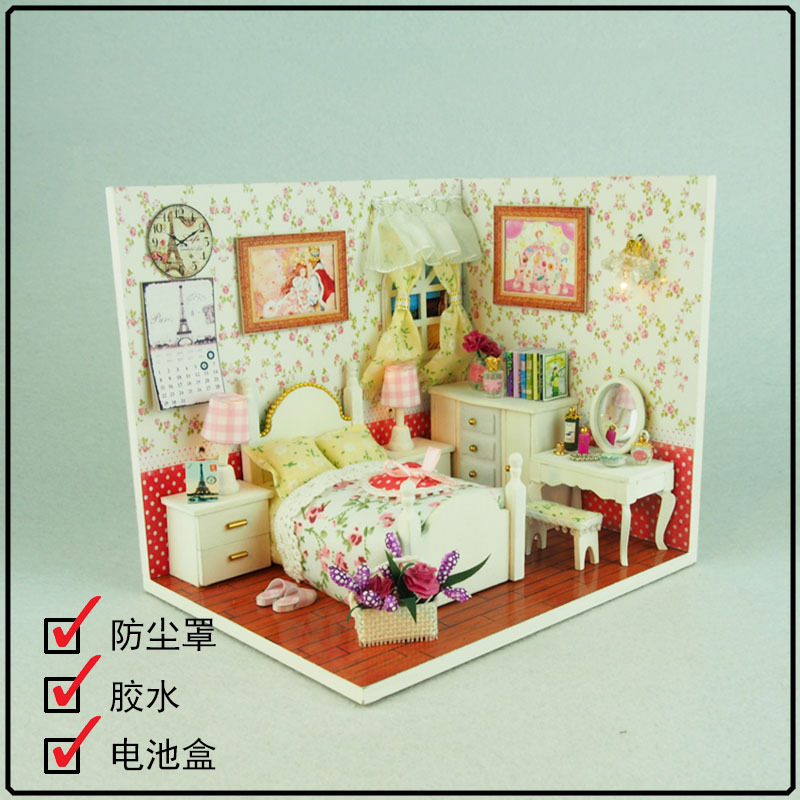 Dolls & Stuffed Toys Toys & Hobbies Responsible Cute Diy Dollhouse Miniature Doll House Wooden Room Building Model Furniture Model For Birthday Gifts M005