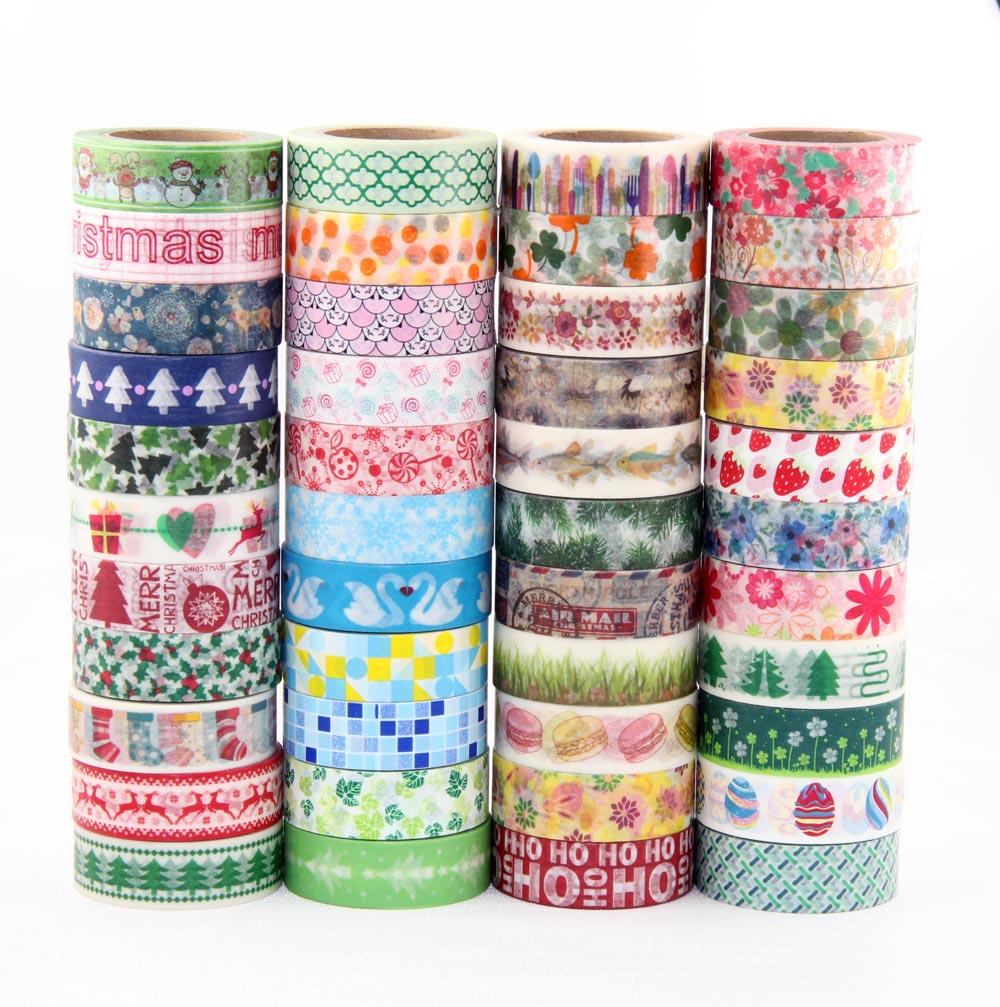 449 designs 30pcs/lot hot sale floral,cartoon, black ,lover cat Washi Tape DIY masking  Adhesive washi Tape lot 10m