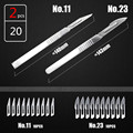 2pcs Scalpel knife with 20pcs sculpting blades professional Animal Surgical Knife  PCB Carving Knife