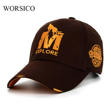 242ec8f43 WORSICO wholsale marca cap chapéu Ocasional cap gorras boné de beisebol  cabido 6 painel de hip