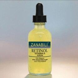 نقية ريتينول فيتامين أ 2.5% + حمض الهيالورونيك العناية بالبشرة كريم لحب الشباب إزالة البقع مصل الوجه المضادة للتجاعيد تبييض كريم وجه