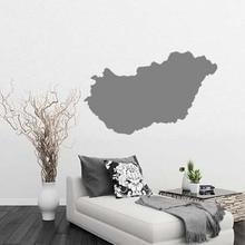 Hungary map Globe Earth Country wall vinyl sticker custom made home decoration fashion design