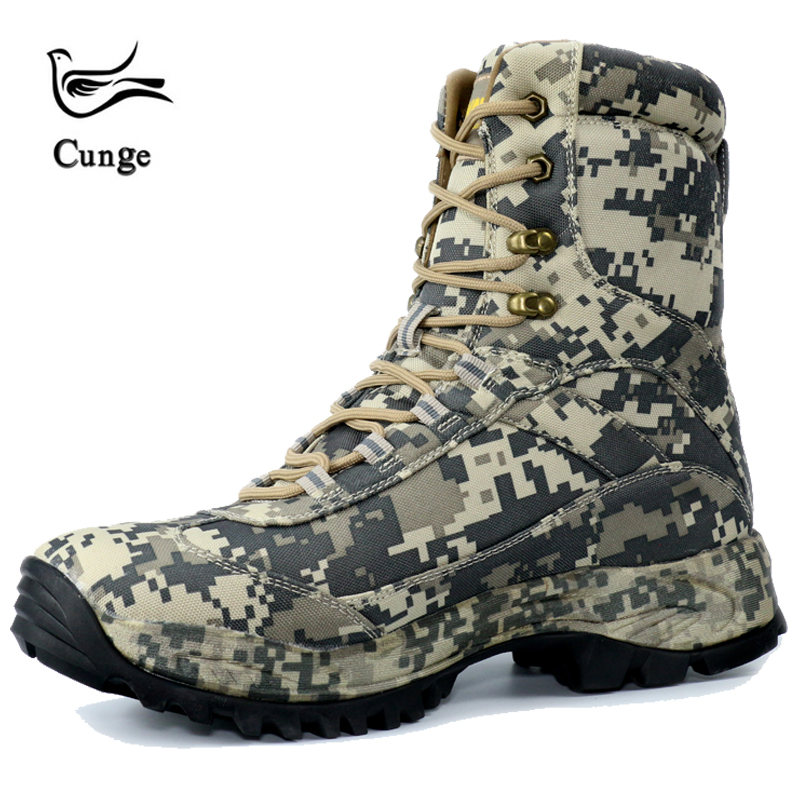 Outdoor waterproof hiking shoes Army Mens Tactical learher Military army combat light shoesHigh Tall Boots Sport Travel shoes
