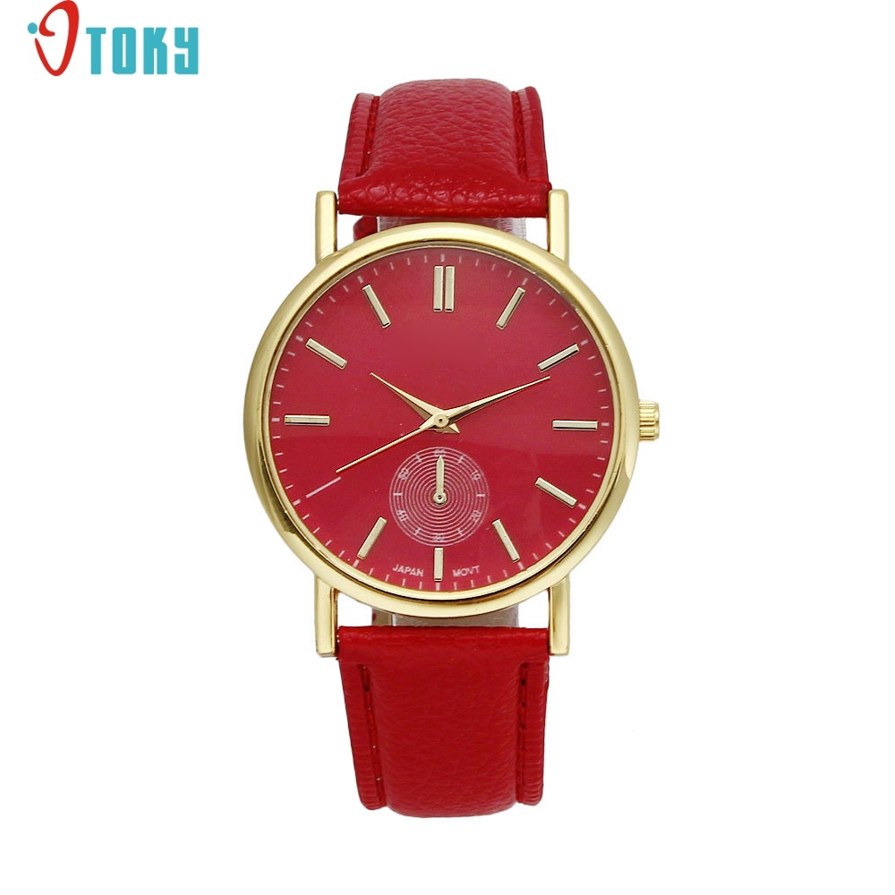 33ca208045b Large amount choices and cheapest price New Geneva Unisex Leather Band  Analog Quartz Vogue WristWatch Watches Dropshipping