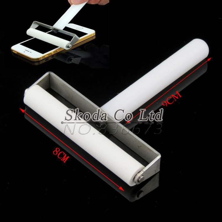 8cm Plastic Handle Anti Static Dust Removing Silicone Sticky Roller for iPhone 6 / Samsung LCD Paster Film Hand Tool
