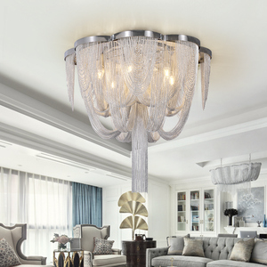 Image 4 - Included LED Bulb E14 Base Fashional Modern Pendant Light Aluminum Chains Pendant Lamps For Dining Room/Hotel/Bedroom