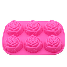 DIY soap silicone mold classic single hole round rose about 85g homemade molds