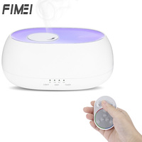 FIMEI 500ml Remote Control Ultrasonic Air Humidifier Aroma Essential Oil Diffuser Umidificador Ocean Mist Wood Grain