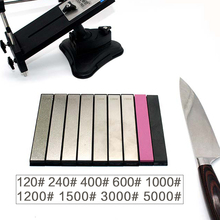 120 grit Fixed angle knife sharpener sharpening stone Natural diamond whetstone oil stone honing stones kme knife sharpener professional sharpening knife portable 360 degree rotation fixed angle apex edge knife sharpener with stones