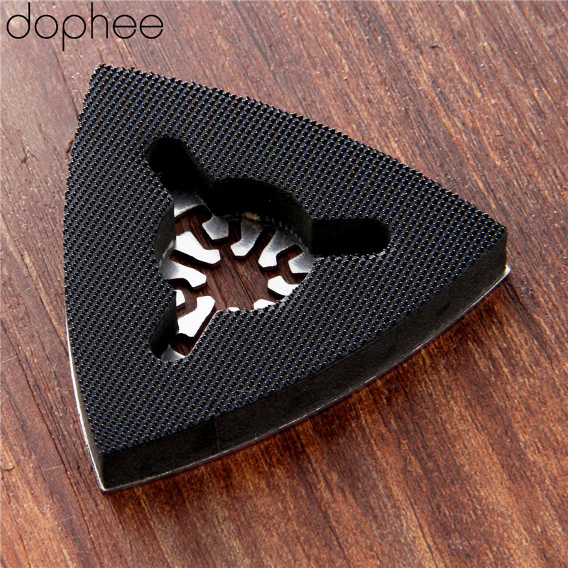 Dophee Universal Stainless Steel 80mm Triangular Sanding Pad Oscillating Multi Tools Polishing Grinding Drill Dremel Rotary Tool