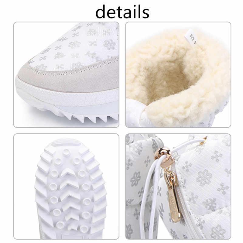 MORAZORA 2020 Yeni sıcak Kar botları bayanlar süet deri orta buzağı botlar su geçirmez platform kış çizmeler kadın ayakkabıları kürk botları