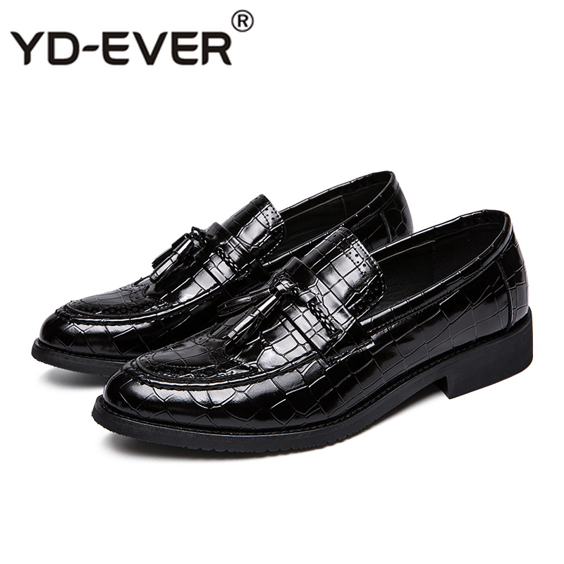 Genuine Leather Men Dress Leather Shoes Luxury Italian Style Formal Shoes Men Plaid Crocodile Skin Dress Office Wedding Shoes Rich In Poetic And Pictorial Splendor Men's Shoes