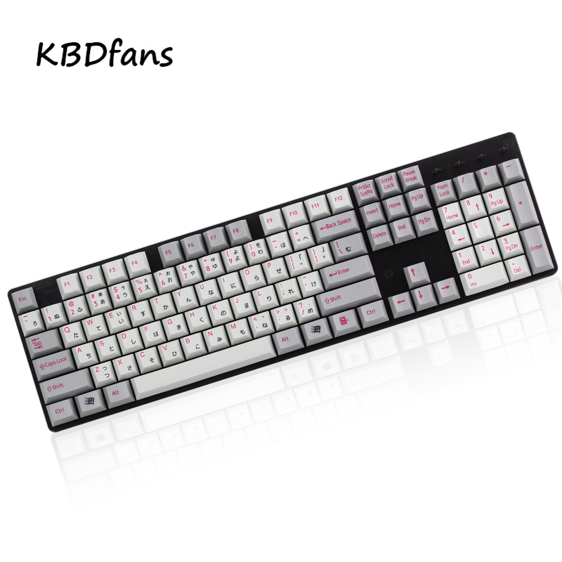 dhl ems 117 keycaps pbt cherry profile caps for mechanical gaming keyboard russian korean japanese npkc Dye sublimated cherry profile pbt material japanese keycaps for usb wried mechanical keyboard