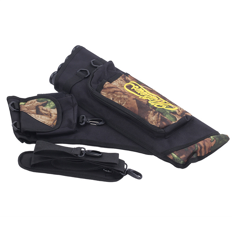 Hunting Arrow Bag Holder <font><b>4</b></font> <font><b>Tubes</b></font> Large Capacity Accessories for Outdoor Archery &T8 image