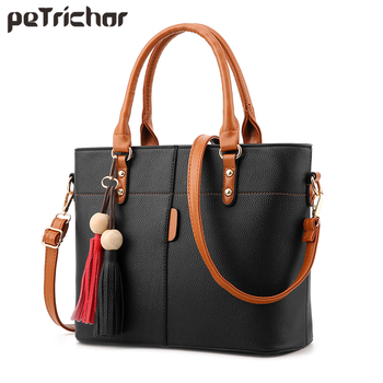 Women Tote Bag Soft PU Leather Ladies Handbag Crossbody Messenger Bags Female Shoulder Bag