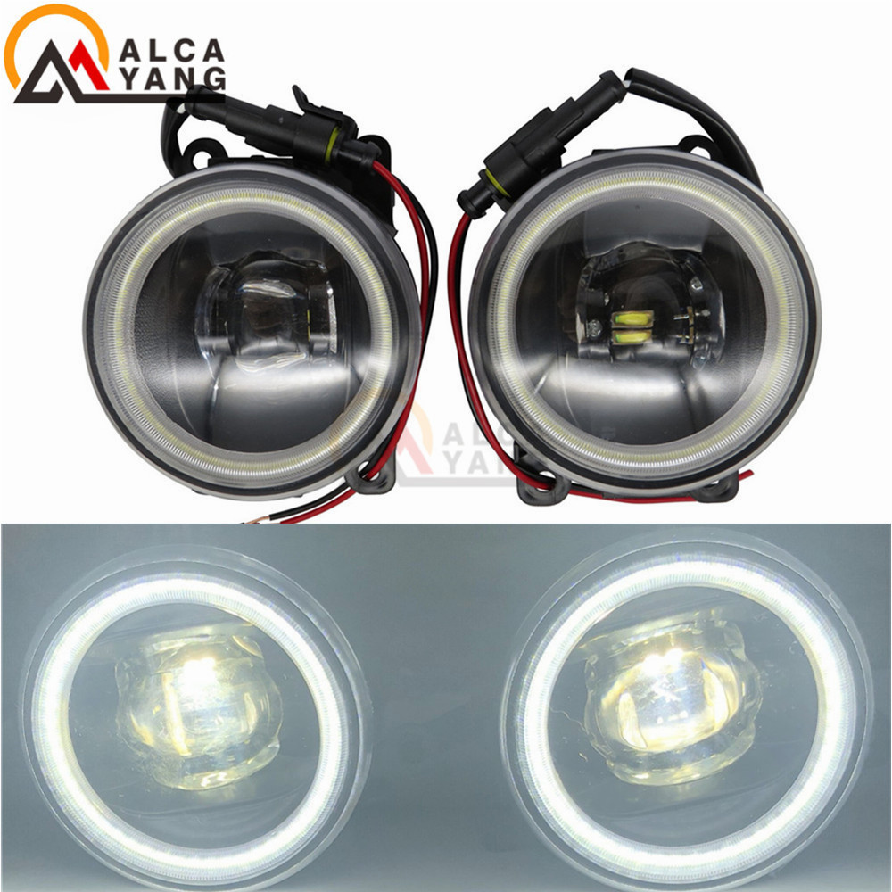 Car Styling Car DRL Daytime Running Light 90mm Round Angel Eye For Mitsubishi Outlander L200 Pajero Grandis Galant 2003-2015 for mitsubishi l200 outlander 2 pajero 4 grandis 2003 2015 car styling angel eyes drl led fog lights 9cm spotlight ocb lens