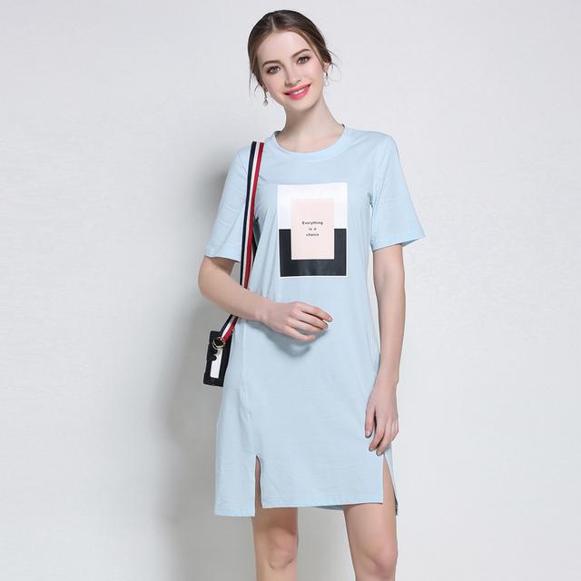 5XL women casual summer dresses plus size european woman big size  brief cute work straight vintage beach cotton  summer dresses
