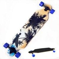 Fast Shipping Professional Canadian Maple Skull Skateboard Road Longboard Skate Board Adult 4 Wheels Downhill Street Long Board
