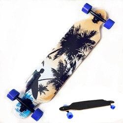 Schnelles Verschiffen Professionelle Kanadischem Ahorn Schädel Skateboard Straße Longboard Skate Board Erwachsene 4 Räder Downhill Straße Langes Brett