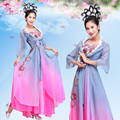 Сценический Костюм в Древнем Китае классический женский танец одежда для взрослых сценический костюм одежда фотография чернила китайский стиль Lavis Юп