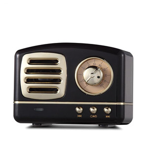 Image 1 - Haut parleur radio Bluetooth nordique rétro Mini haut parleur Bluetooth sans fil Portable Radio USB/TF carte lecteur de musique Subwoofer decore
