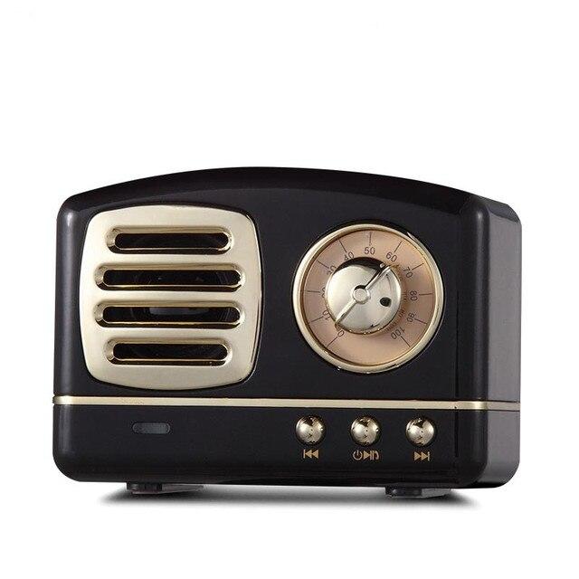 Haut parleur radio Bluetooth nordique rétro Mini haut parleur Bluetooth sans fil Portable Radio USB/TF carte lecteur de musique Subwoofer decore
