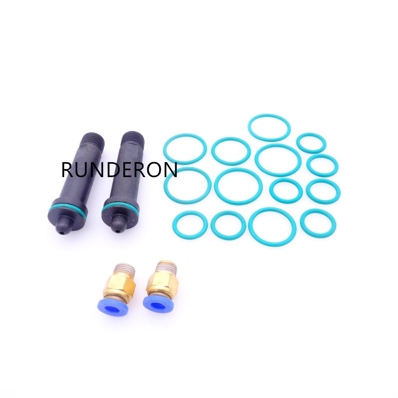 Diesel Common Rail Tester Bench Repair Kit for BOSCH/DENSO Injector Clamping Holder Fixture Sealing Oil Return Collector
