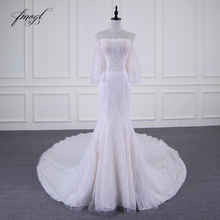 Fmogl Vestido De Noiva Mermaid Wedding Dresses Long Sleeve
