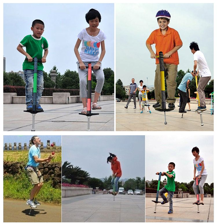 Child Outdoor Toy Jumping Pogo Playing Game Single Pole Stick For Kids Double-hand Jumping Pole Pogo Stick Sport Children Toy flashing jumping ball outdoor fun sport toy bouncing balls for kids child sport movement ankle skip color rotating ball 5 color