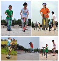 Child Outdoor Toy Jumping Pogo Playing Game Single Pole Stick For Kids Double hand Jumping Pole Pogo Stick Sport Children Toy