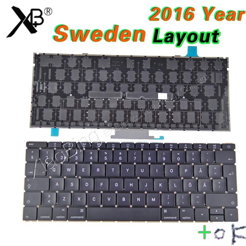 все цены на New Laptop A1534 SW SE Sweden Swedish Keyboard Backlight Backlit +Screws for Macbook 12