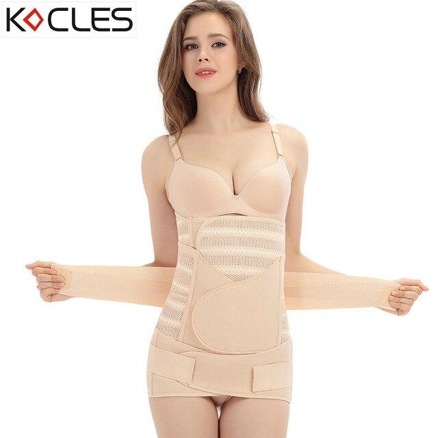 3399ca52b5084 3 In 1 Postpartum Cummerbund Slimming Belt Body Shaper Corset Waist Trainer  Slim Underwear Waist Cincher Modeling Strap