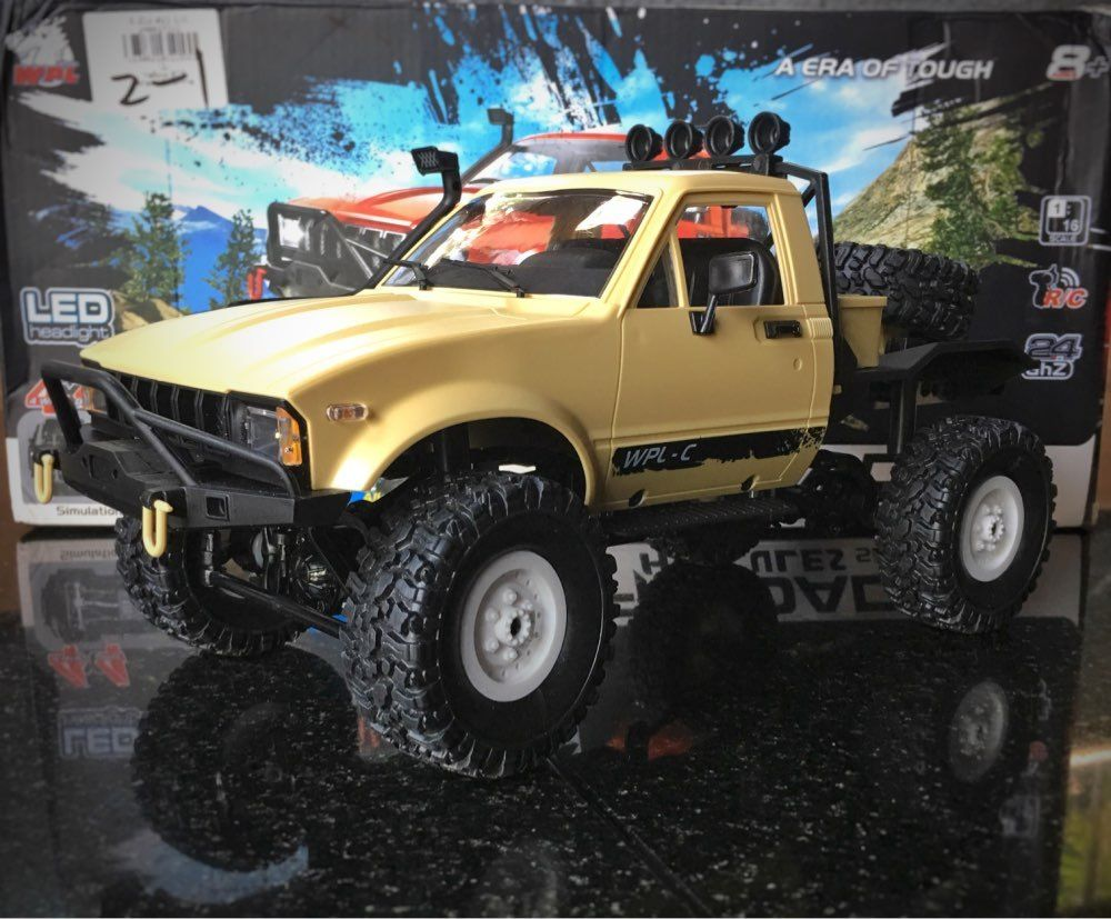 WPL C14 1:16 Mini Off-Road RC Truck Hynix 2.4G Remote Control Car 15km/h Top Speed Mini RC Monster Truck 4WD RTR/KIT