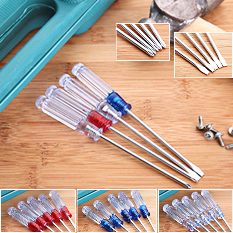 Acrylic Handle Cross Flat Blade Screwdriver Reversible Power Hand Tool in Hand Tool Sets from Tools