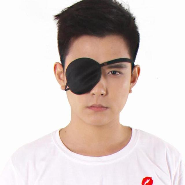HOT Unisex Black Single Eye Patch  Washable Adjustable Concave Eye Patch Medical Patch Pirate Cosplay Costume 1