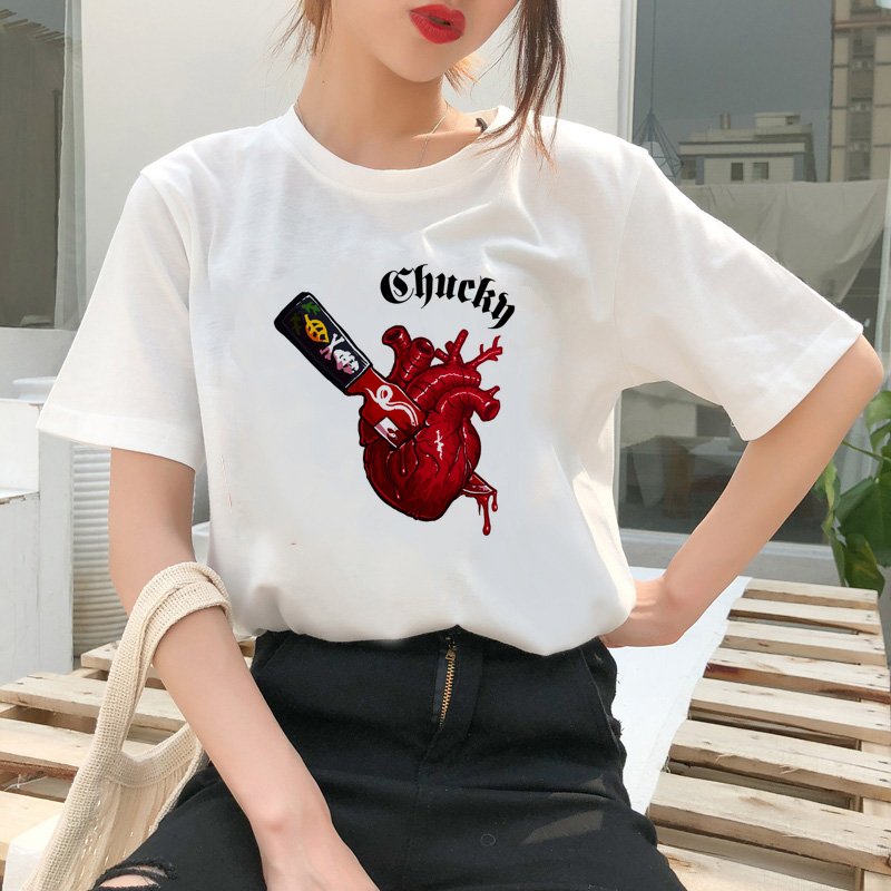 chucky t shirt Horror High cool women top Quality new streetwear tee t-shirt fashion ulzzang female shirts femme new tshirt 6