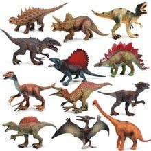 2pcs/set 16*4.5*8cm Jurassic Park Model suit boy birthday gift vivied lifelike diverse dinosaur model children Plastic toys