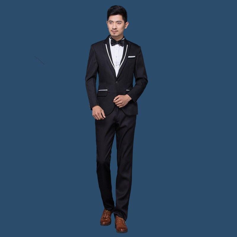 groom wedding font b suits b font tuxedo for font b men b font black font