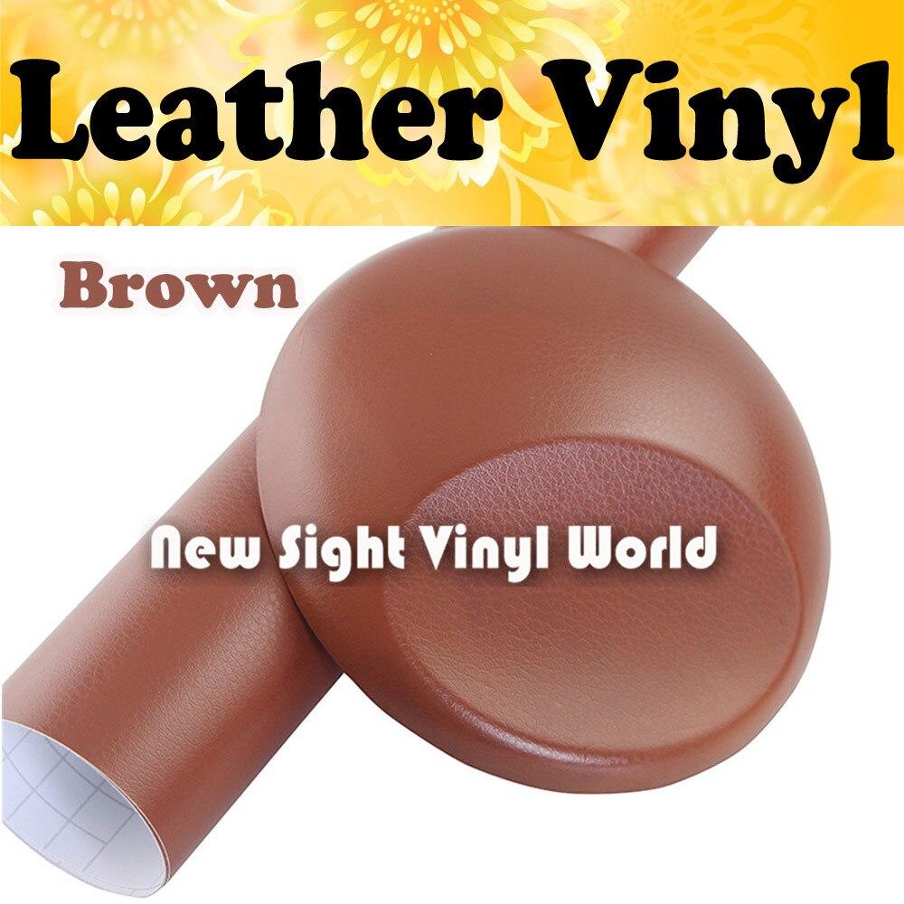 Brown Leather Vinyl Film Leather Pattern PVC Adhesive Vinyl Film Stickers Internal Decoration Size:1.52*30m/Roll