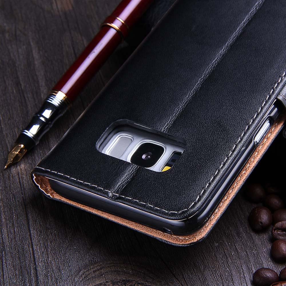TOMKAS Kasus Untuk Samsung Galaxy S8 PU Dompet Kulit Penutup Bisnis - Aksesori dan suku cadang ponsel - Foto 5