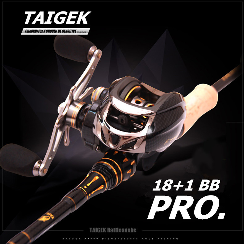 Taigek 19BB Metal Spool Brand Saltwater Fishing Baitcasting Reel 6.3:1 Left Right Handle Surf Bait Casting Reel Fishing Reel nunatak original 2017 baitcasting fishing reel t3 mx 1016sh 5 0kg 6 1bb 7 1 1 right hand casting fishing reels saltwater wheel