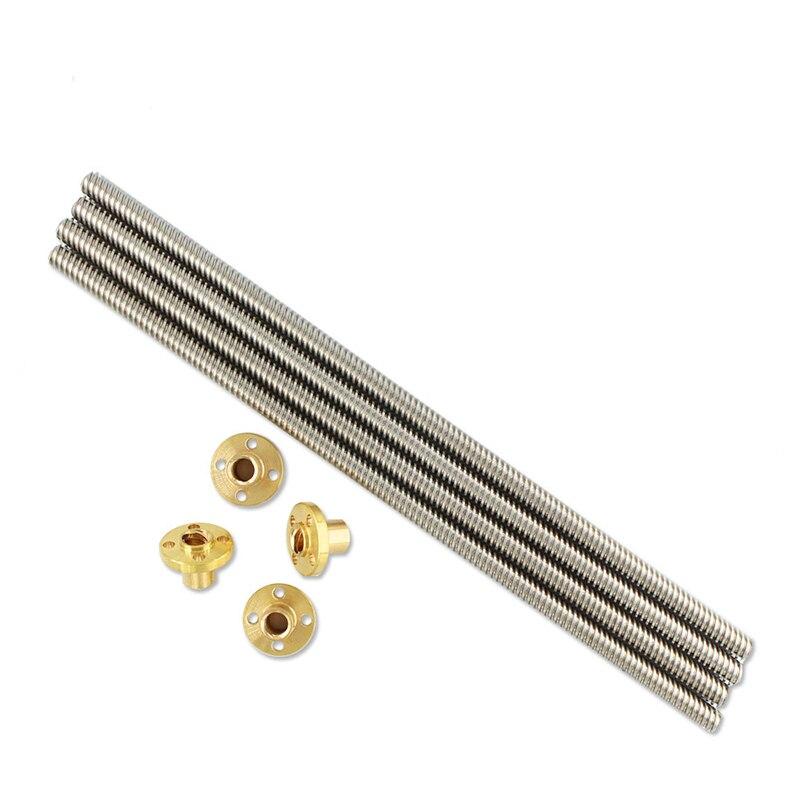 450mm Länge 8mm Edelstahl Trapezgewindespindel /& Messingmutter für 3D-Druck