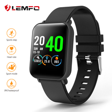 LEMFO Full Screen Touch Smart Watch Men Waterproof Sport Watch Heart Rate Blood Pressure Monitoring 20 Days Standby Smartwatch