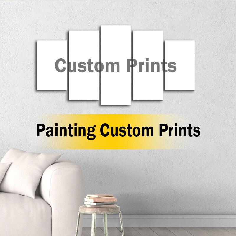 Immagini di Arte della parete Living Room Decor Stampe HD Poster 5 pezzi su misura Pittura di Paesaggio Quadro 001