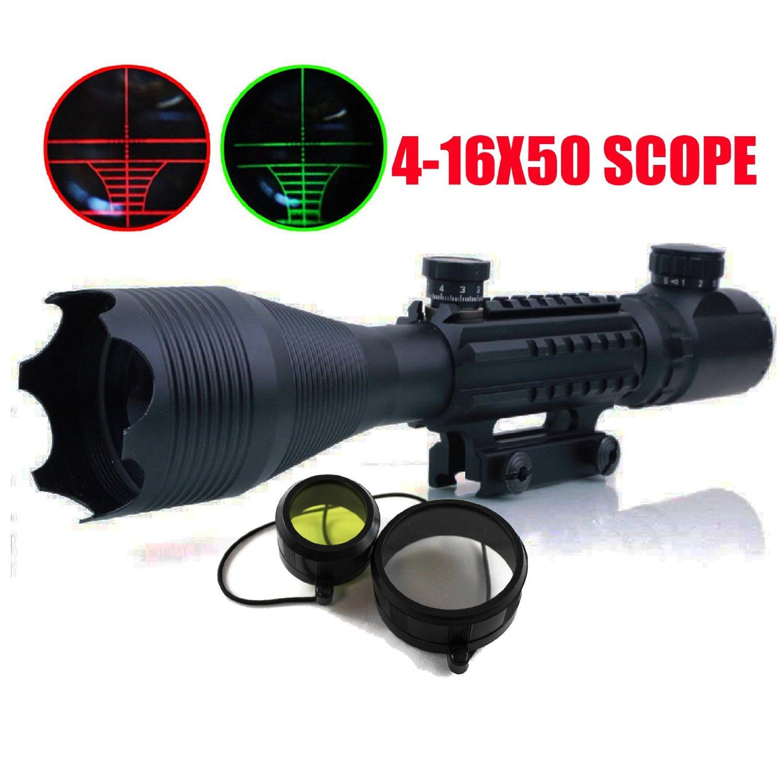 ФОТО Hunting illuminated  4-16x50EG Red Green Dot Reflex 20mm Shotgun Sight Rifle Scopes Tactical