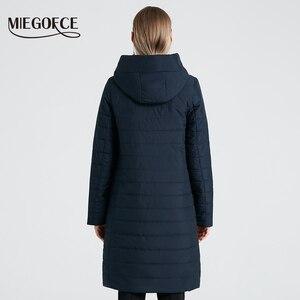 Image 3 - MIEGOFCE 2020 אביב נשים מעיל עם עקומת רוכסן נשים מעיל גבוהה איכות דק כותנה מרופדת מעיל נשים של חם Parka מעיל