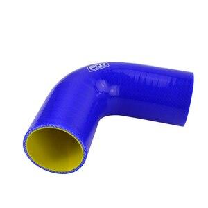 """Image 4 - شحن مجاني أسود/أزرق 2.0 """"51 مللي متر/2.5 63 مللي متر/3 76 مللي متر 90 درجة 45 درجة الكوع سيليكون خرطوم الأنابيب توربو المدخول"""