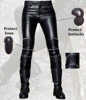 Fashion tight uglybros UBS021 leather pants women's motorcycle protective pants locomotive riding leather pants racing pants