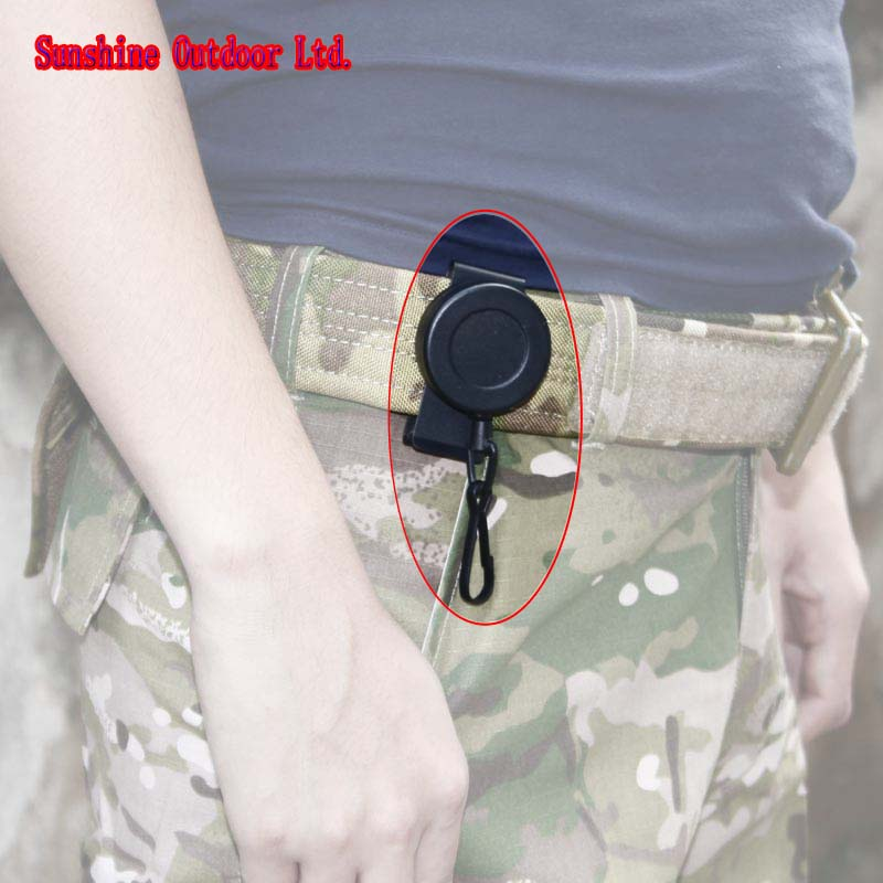 Rotating 360 Degree 1M Retractable Flexible Steel Wire Rope Pistol Sling Special Tactics Fighting Survival Rope-free Shipping