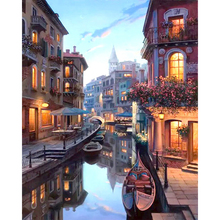 Frameless Venice Night Landscape DIY Painting By Numbers Kits Coloring Painting By Numbers Home Wall Art Decor For Unique Gift diy digital oil painting by numbers kits coloring landscape painting by numbers unique gift for living room home decor 40 50cm